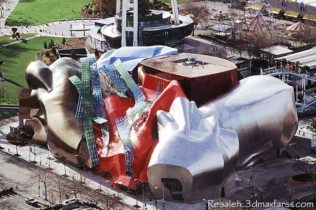 The Experience Music Project Frank Gehry فرانک گری