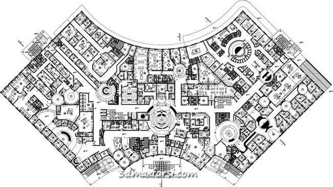 نقشه پلان بیمارستان