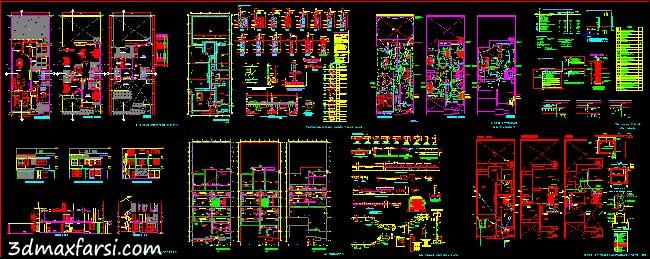 دانلود رایگان پلان نقشه ساختمان مسکونی اجرایی