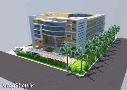 دانلود رایگان نقشه اتوکد سایت پلان معماری بیمارستان