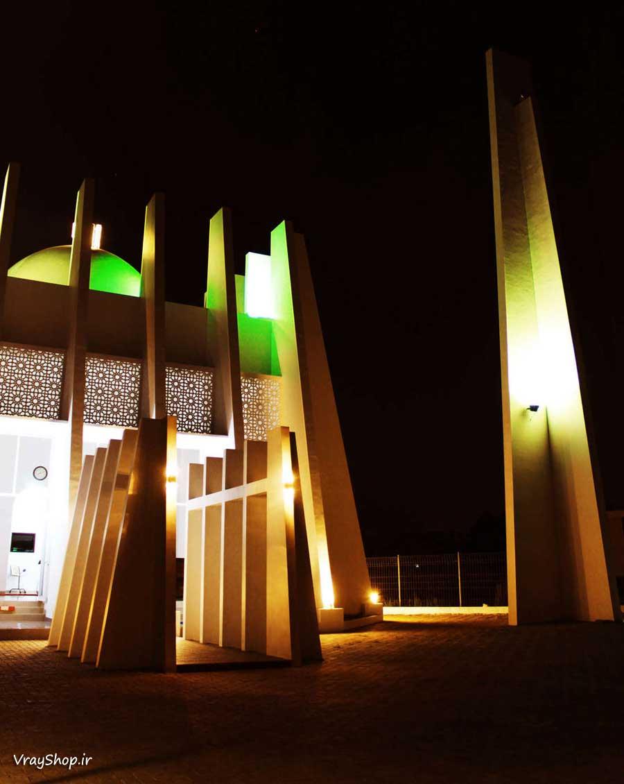 نورپردازی پایان نامه رساله مسجد