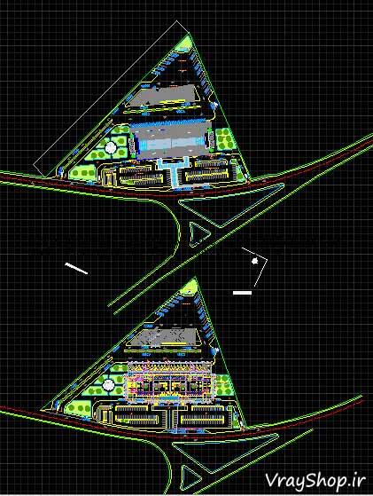 دانلود رایگان نقشه اتوکد سایت پلان رساله ترمينال مسافربری