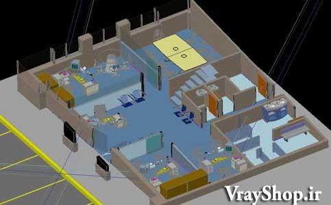 ]دانلود رایگان صحنه داخلی فضای بانک ملی آبجکت های سه بعدی