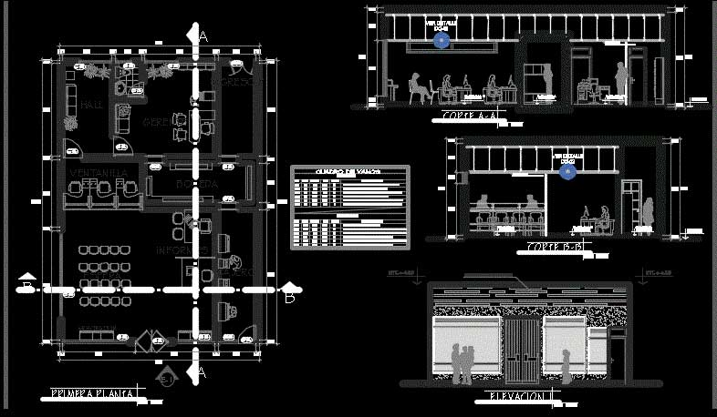 دانلود رایگان پروژه بانک ملی مبلمان 2بعدی اداری