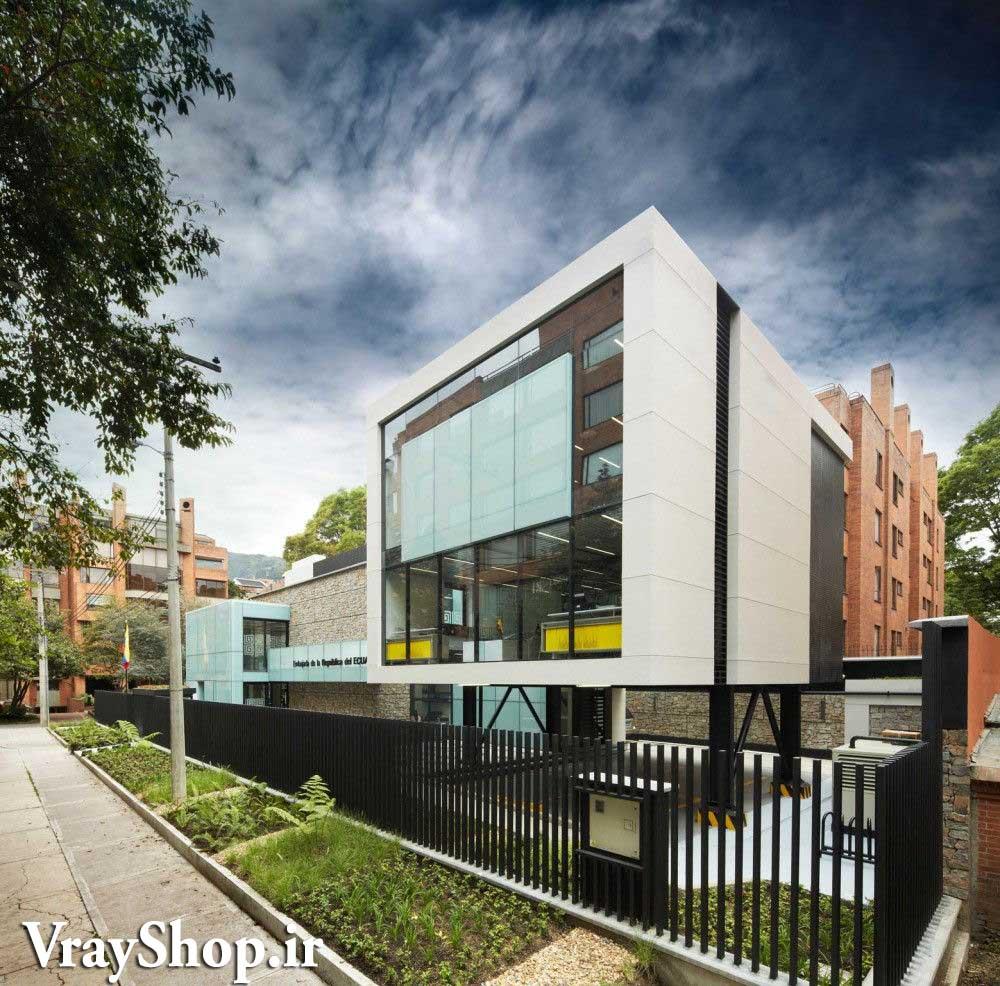 دانلود رساله طراحی سفارت دفتر کنسولگری پایان نامه معماری Embassy