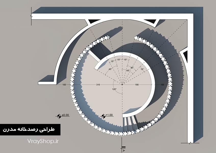 ضوابط طراحیرصدخانه : رصدخانه انجمن معماران معاصر کویر