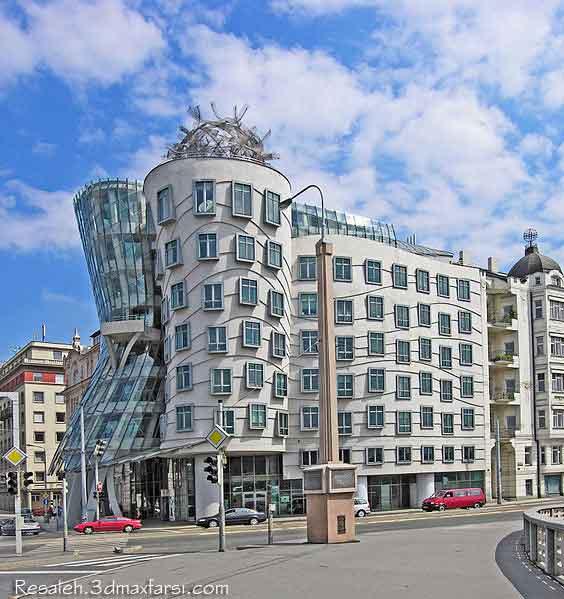 Dancing House Frank Gehry سبک دیکانستراکشن