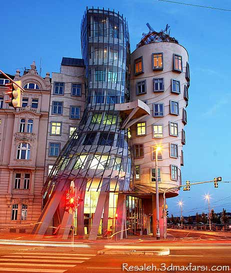 Dancing House in Prague فرانک گری