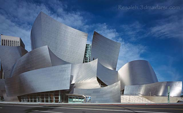 Walt Disney Concert Hall Frank Gehry سبک دیکانستراکشن